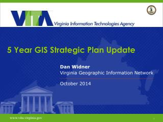 5 Year GIS Strategic Plan Update