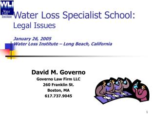 David M. Governo Governo Law Firm LLC 260 Franklin St. Boston, MA 617.737.9045