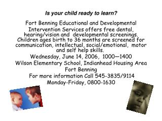 Is your child ready to learn?