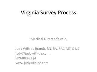 Virginia Survey Process