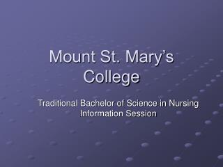 Mount St. Mary's College