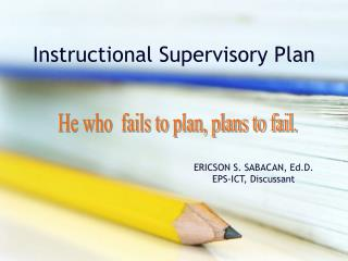 Instructional Supervisory Plan