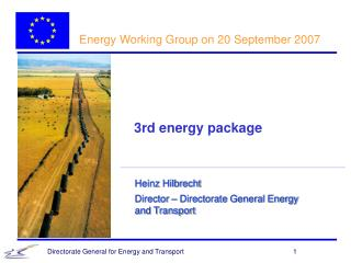 Energy Working Group on 20 September 2007
