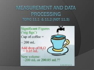 measurement and data processing Topic 11.1  & 11.2 (not 11.3)