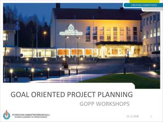 Goal Oriented Project Planning
