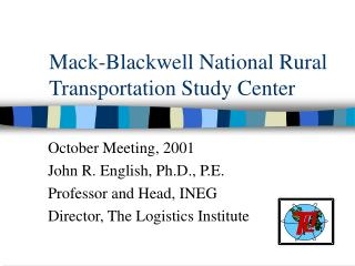 Mack-Blackwell National Rural Transportation Study Center