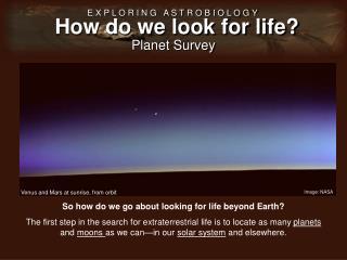 Planet Survey