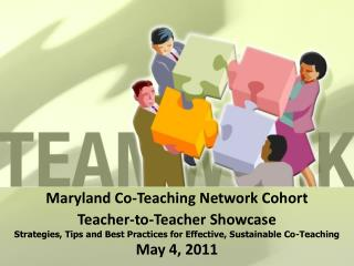 Maryland Co-Teaching Network Cohort Teacher-to-Teacher Showcase