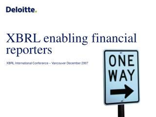 XBRL enabling financial reporters