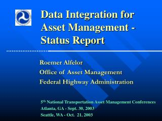 5 th  National Transportation Asset Management Conferences