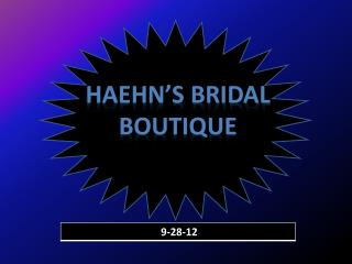 Haehn's Bridal Boutique