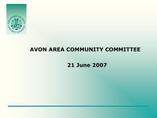 AVON AREA COMMUNITY COMMITTEE