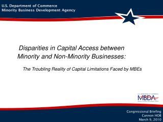 Disparities in Capital Access between Minority and Non-Minority Businesses: