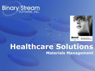 Healthcare Solutions Materials Management