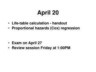 April 20
