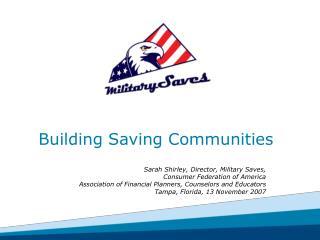 Building Saving Communities