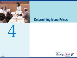 Determining Menu Prices