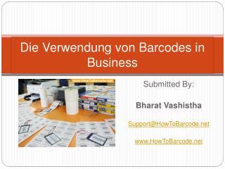 Die Verwendung von Barcodes in Business