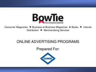 Consumer Magazines     Business-to-Business Magazines    Books      Internet