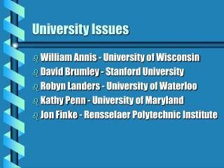 University Issues