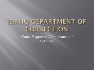 Idaho Department of correction