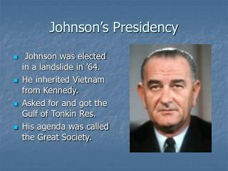 Johnson�s Presidency