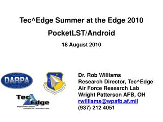 TecEdge Summer at the Edge 2010 PocketLST