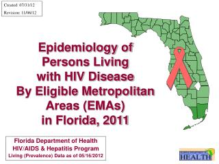 Epidemiology of Persons Living  with HIV Disease