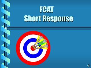 FCAT   Short Response