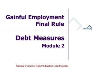 Gainful Employment Final Rule