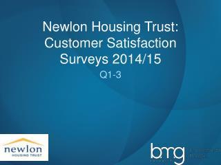 Newlon Housing Trust: Customer Satisfaction Surveys 2014/15