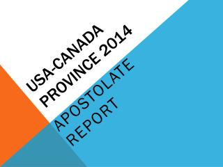 USA- canada PROVINCE 2014