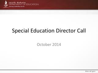 Special Education Director Call