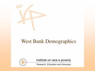 West Bank Demographics