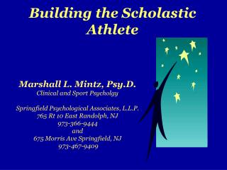 Building the Scholastic  Athlete
