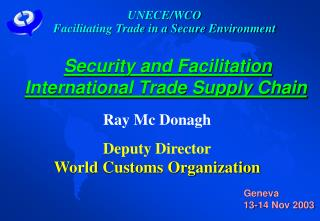 Security and Facilitation  International Trade Supply Chain