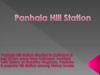 Panhala Hill Station