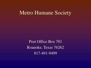 Metro Humane Society