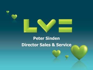 Peter Sinden Director Sales & Service