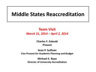 Middle States Reaccreditation
