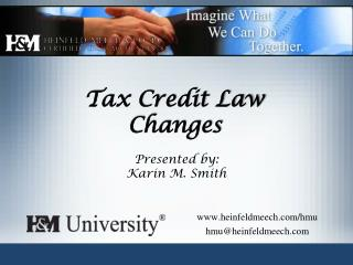 Tax Credit Law Changes