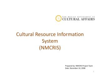 Cultural Resource Information System  (NMCRIS)