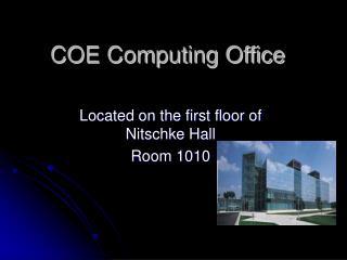 COE Computing Office