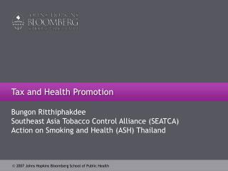Tax and Health Promotion