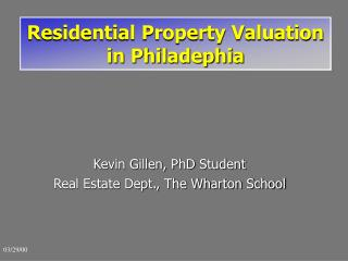 Residential Property Valuation in Philadephia