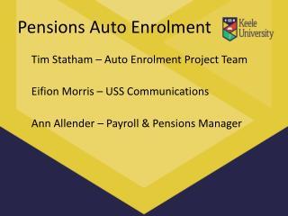 Pensions Auto Enrolment