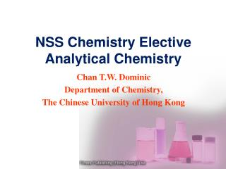 NSS Chemistry Elective Analytical Chemistry