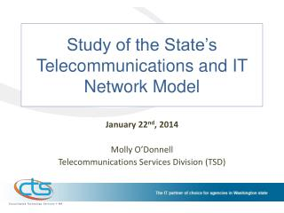 Study of the State�s Telecommunications and IT Network Model