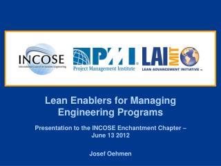 Lean Enablers for Managing Engineering Programs