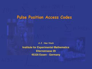 Pulse Position Access Codes